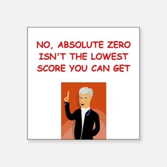 """absolute zero Square Sticker 3"""" x 3"""""""