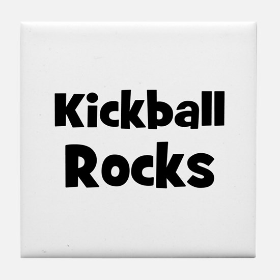 KICKBALL Rocks Tile Coaster