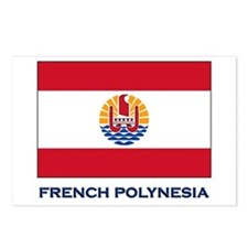 French Polynesia Flag Stuff Postcards (Package of