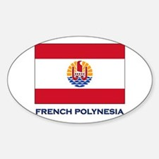 French Polynesia Flag Stuff Oval Decal