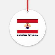 French Polynesia Flag Stuff Ornament (Round)