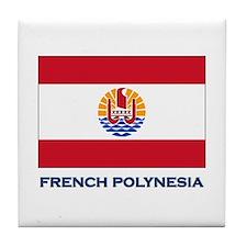 French Polynesia Flag Stuff Tile Coaster