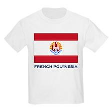 French Polynesia Flag Stuff Kids T-Shirt
