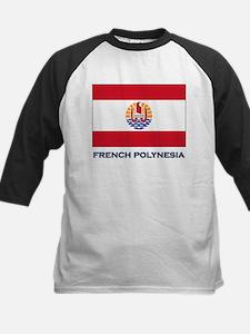 French Polynesia Flag Stuff Kids Baseball Jersey