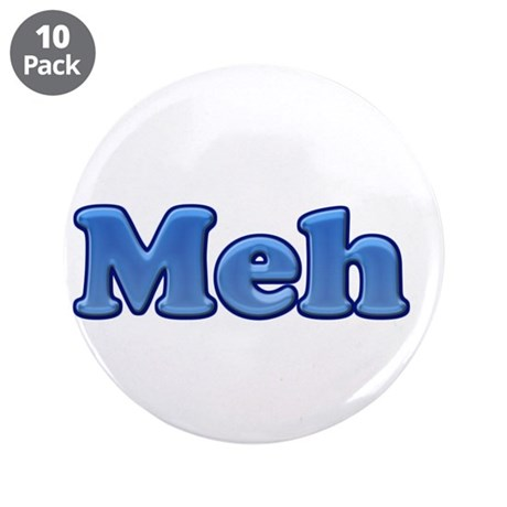 """Meh 1.png 3.5"""" Button (10 pack)"""