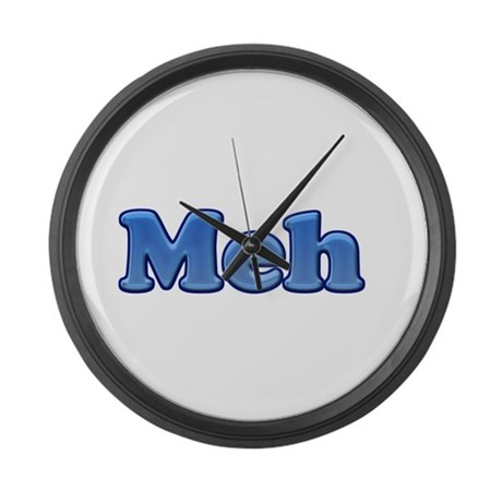 Meh 1.png Large Wall Clock