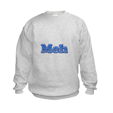 Meh 1.png Kids Sweatshirt