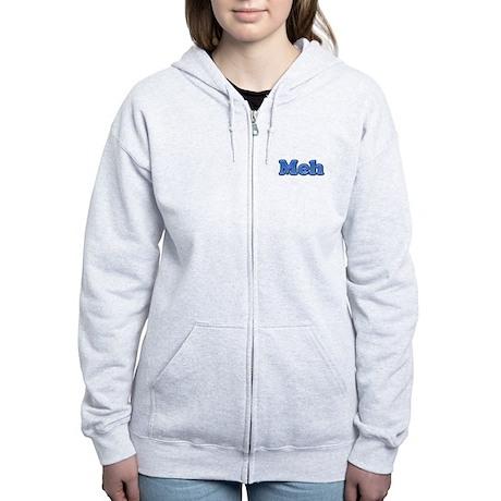 Meh 1.png Women's Zip Hoodie