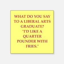 """liberal arts Square Sticker 3"""" x 3"""""""