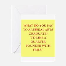 liberal arts Greeting Card