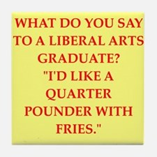liberal arts Tile Coaster