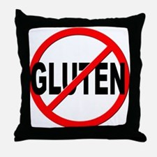 Anti / No Gluten Throw Pillow