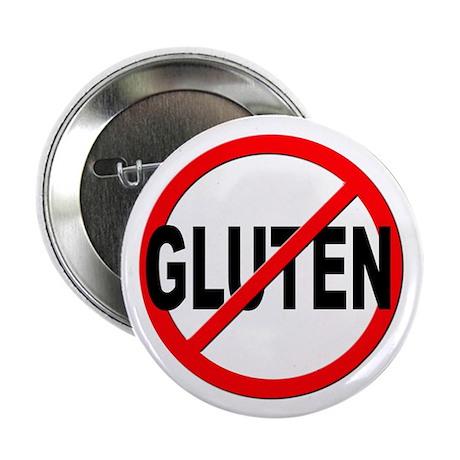 """Anti / No Gluten 2.25"""" Button (100 pack)"""