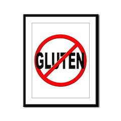 Anti / No Gluten Framed Panel Print