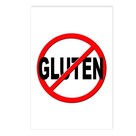 Anti / No Gluten Postcards (Package of 8)