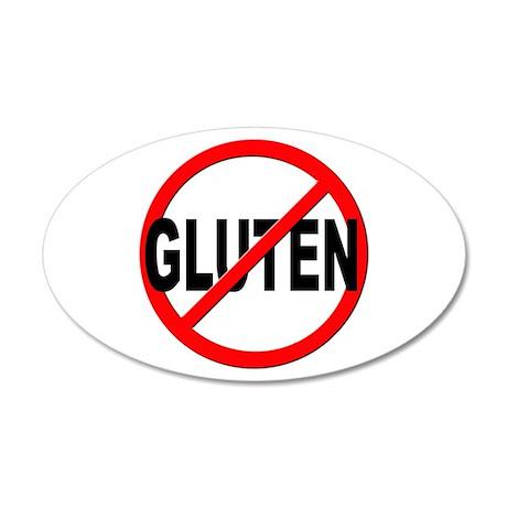 Anti / No Gluten 20x12 Oval Wall Decal