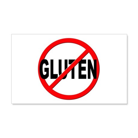 Anti / No Gluten 20x12 Wall Decal