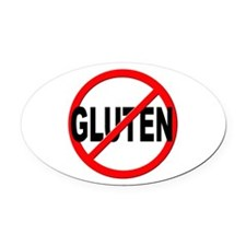 Anti / No Gluten Oval Car Magnet