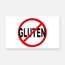 Anti / No Gluten Rectangle Car Magnet