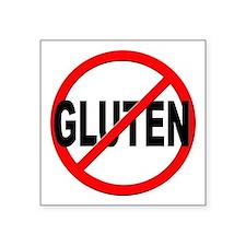 """Anti / No Gluten Square Sticker 3"""" x 3"""""""