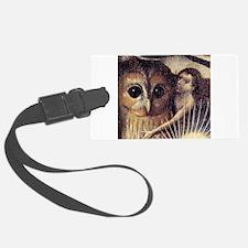 Cute Retro owl Luggage Tag