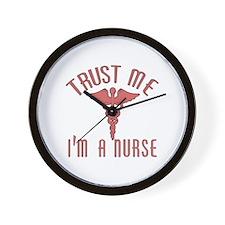 Trust Me I'm a Nurse (Pink) Wall Clock