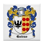 Guirao Coat of Arms Tile Coaster