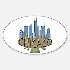 Chicago Skyline Newwave Beachy Decal