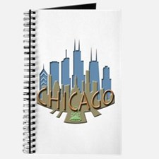 Chicago Skyline Newwave Beachy Journal