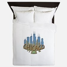 Chicago Skyline Newwave Beachy Queen Duvet