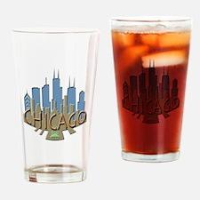 Chicago Skyline Newwave Beachy Drinking Glass