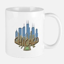 Chicago Skyline Newwave Beachy Mug