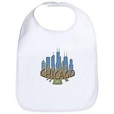 Chicago Skyline Newwave Beachy Bib