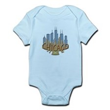 Chicago Skyline Newwave Beachy Infant Bodysuit