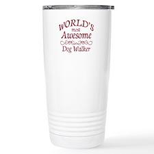 Awesome Dog Walker Stainless Steel Travel Mug