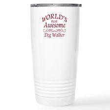 Awesome Dog Walker Travel Coffee Mug