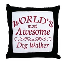 Awesome Dog Walker Throw Pillow