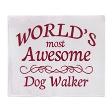 Awesome Dog Walker Throw Blanket