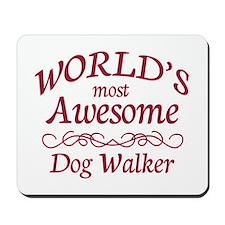 Awesome Dog Walker Mousepad