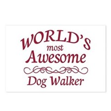 Awesome Dog Walker Postcards (Package of 8)