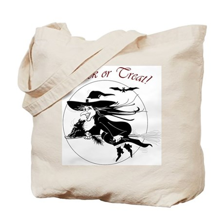 Trick or Treat Witch Tote Bag