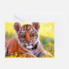 Tiger Baby Cub Greeting Cards (Pk of 10)