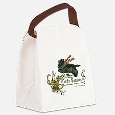 Scottish Terrier Season Canvas Lunch Bag