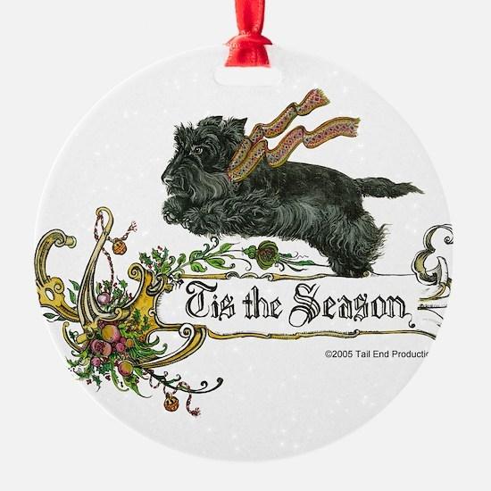 Scottish Terrier Season Ornament