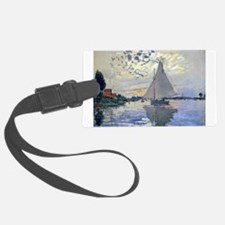 Claude Monet Sailboat Luggage Tag