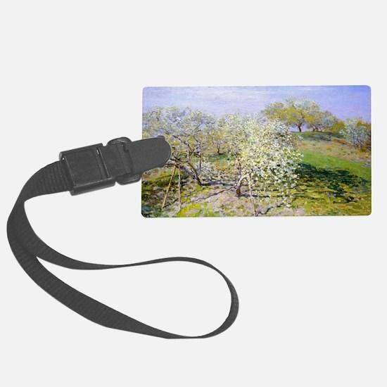 Claude Monet Apple Trees Luggage Tag