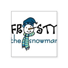 "Frosty the Snowman Square Sticker 3"" x 3"""