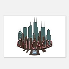 Chicago Skyline Newwave Chocolate Postcards (Packa