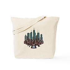Chicago Skyline Newwave Chocolate Tote Bag