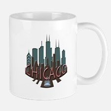 Chicago Skyline Newwave Chocolate Mug